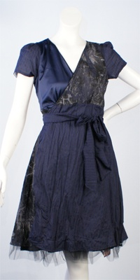 Annah S reversible wrap dress ... with sleeves!