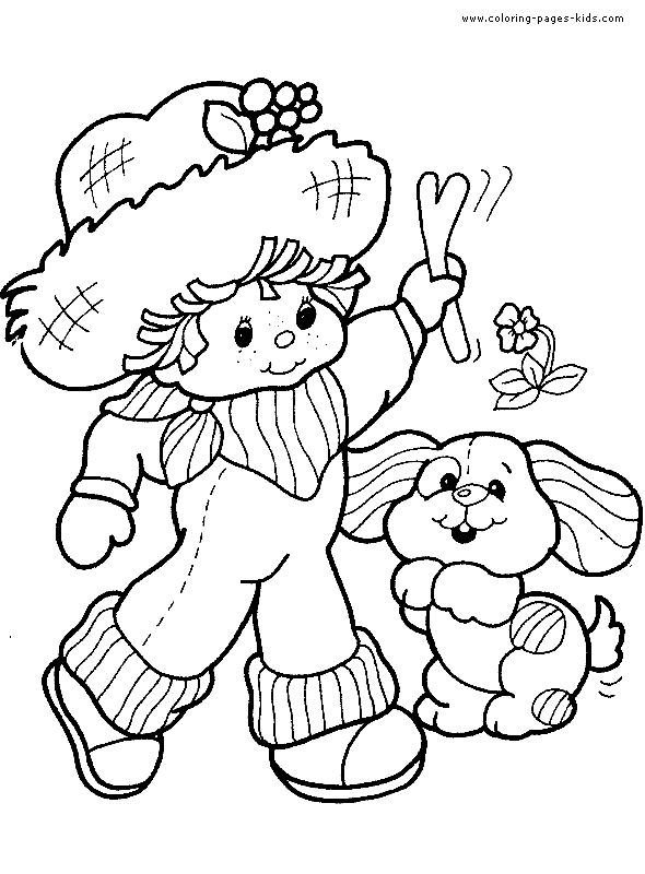 Strawberry Shortcake Color Page Cartoon Characters Coloring Pages Plate Sheet