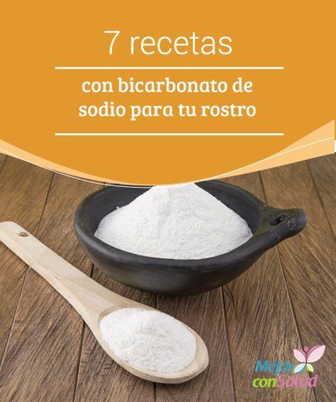 7 #recetas con bicarbonato de sodio para tu #rostro  Gracias a la textura y a las propiedades del #bicarbonato de sodio podemos combinarlo con múltiples ingredientes e incluirlo en diferentes recetas de #belleza para cuidar de nuestra #piel