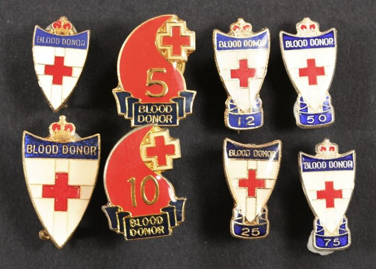 Red Cross Blood Donor Badges