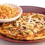5 vispizza met zalm en mosselen