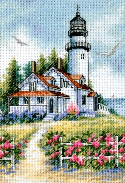 Beautiful Lighthouse Cross Stitch Pattern