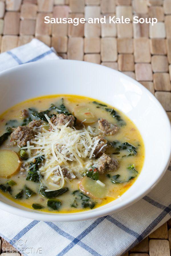 Hearty Sausage and Kale Soup #soup #fall #kale