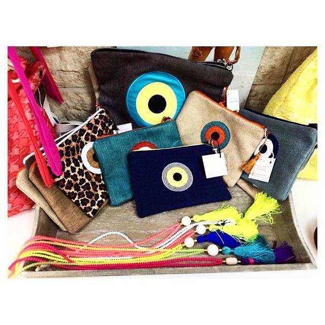 Handmade bags Christina Malle in Paxoi!  Boudoir boutique! #handmade#bags#malle_bags#evileye#eye#christinamalle_bags#clutches#sunmer2015#fashion#vscofashion#style#Greece#greekdesigner#lovegreece#Paxoi #shopping#evileyeproject