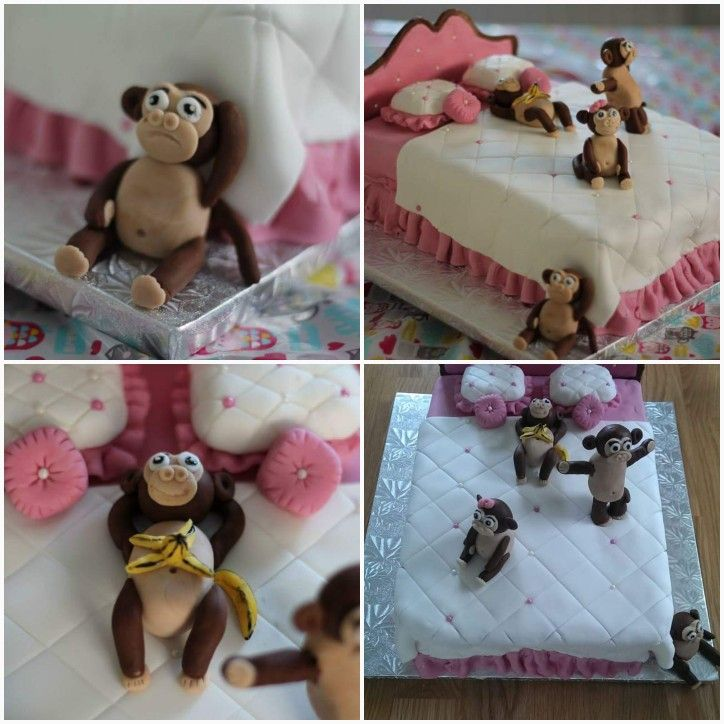 Monkeys on the bed cake