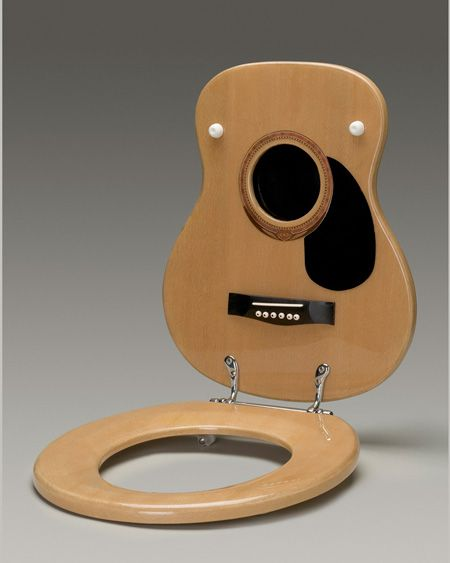 How amazing would it be to walk into a bathroom and see a instrument as the toilet seat. Simply Amazing!