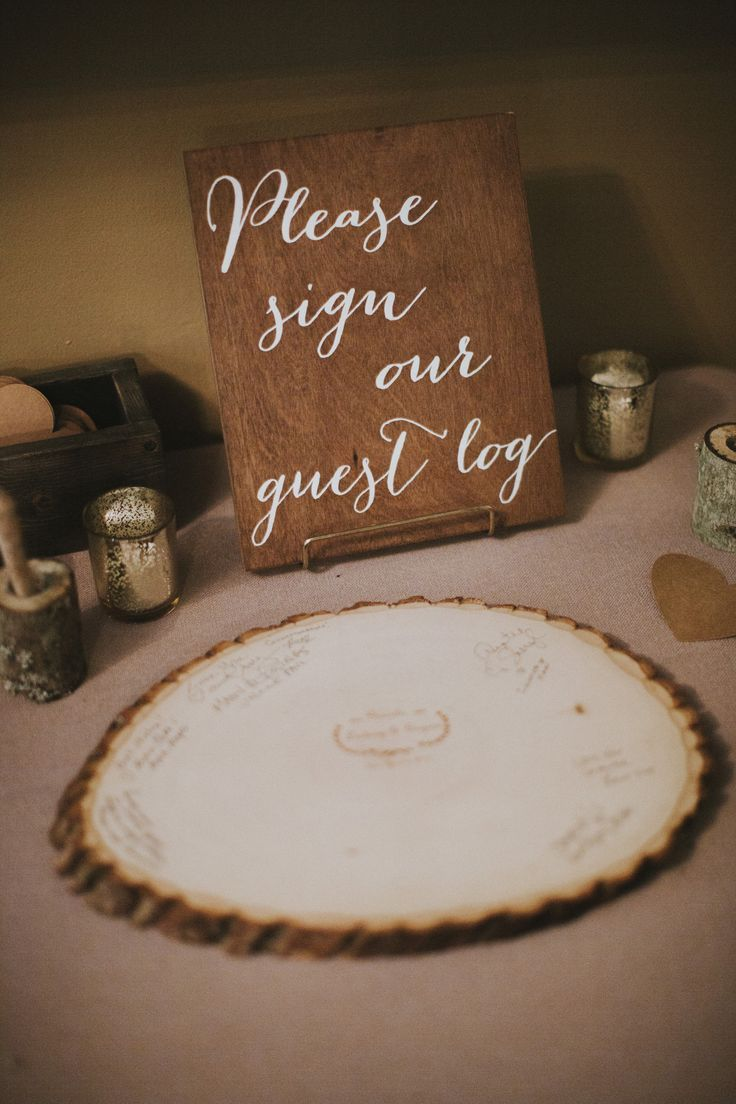 wedding guest book ideas - http://ruffledblog.com/romantic-redwoods-wedding
