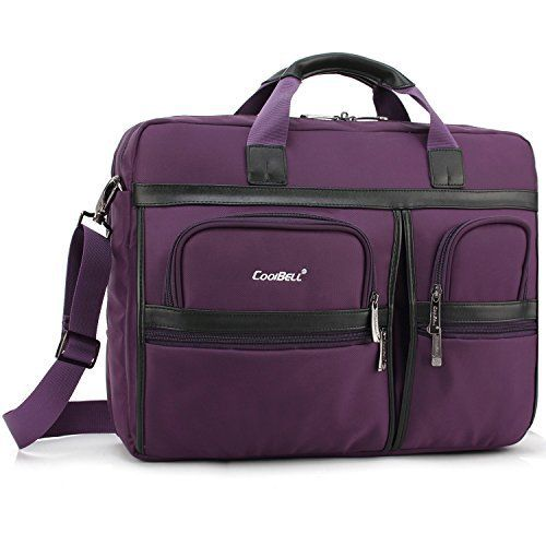 New Trending Briefcases amp; Laptop Bags: Laptop Briefcase, CoolBell 17.3 Inch Protective Messenger Bag Nylon Shoulder Bag Multi-functional Hand Bag For Laptop / Ultrabook / Tablet / Macbook / Dell / HP / Acer / Men/Women/Business (Purple). Laptop Briefcase, CoolBell 17.3 Inch Protective Messenger Bag Nylon Shoulder Bag Multi-functional Hand Bag For Laptop / Ultrabook / Tablet / Macbook / Dell / HP / Acer / Men/Women/Business (Purple)  Special Offer: $49.99  �