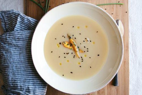 miso-yam soup w/ sesame roasted carrots | Dinner! | Pinterest