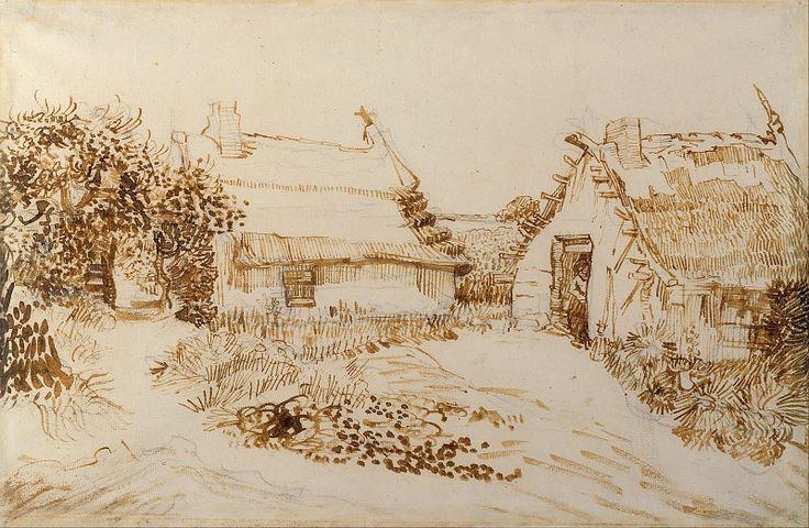 Две хижины в Сент-Мари. Винсент Ван Гог. 1888
