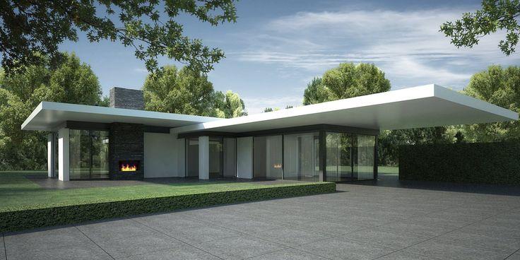 DENOLDERVLEUGELS Architects & Associates / Modern klassieke villa Soest. Voor een gelijkvloerse villa in Soest is een ontwerp gemaakt waarbij openheid en transparantie de basis vormen. De combinatie van grote, deels te openen glasvlakken en riante luifels zorgen ervoor dat optimaal gebruik gemaakt kan worden van de binnen- en buitenruimtes.