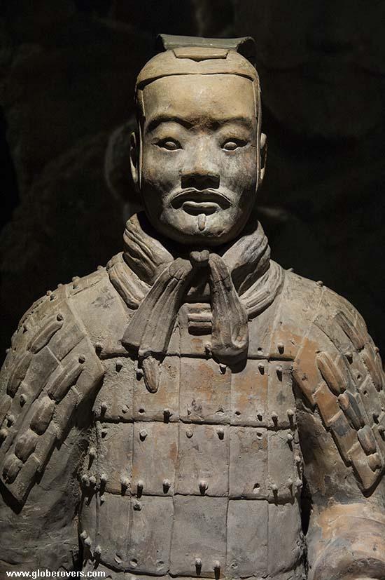 A terracotta warrior near Xi'an, Shaanxi Province, CHINA.
