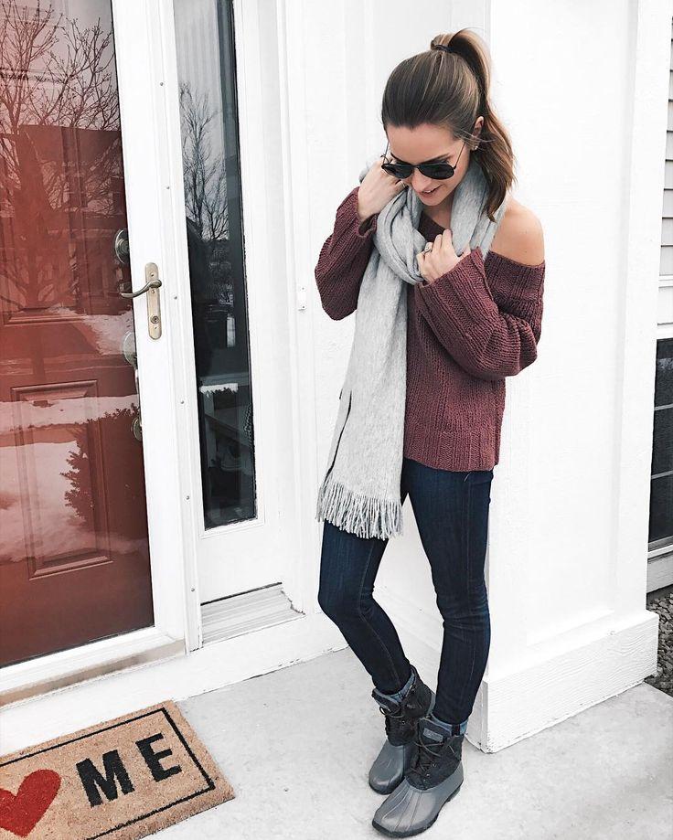 Gray fringe scarf. Winter outfit ideas  || Shop my look: { http://liketk.it/2q0Hu } @liketoknow.it #liketkit