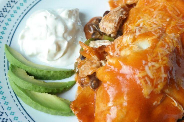 Schon mal gewundert, wie man diese super leckeren Enchiladas vom Mexikaner nachkocht? Ich zeig dir wie man Enchilada lecker und guenstig nachkocht!