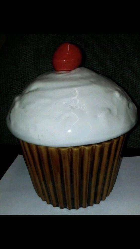 Vintage USA California Pottery J54 Cupcake Cookie Jar    eBay
