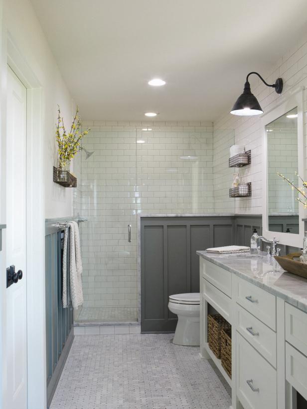 Rooms Viewer Hgtv Bathroom Remodel Master Farmhouse Master Bathroom Small Farmhouse Bathroom