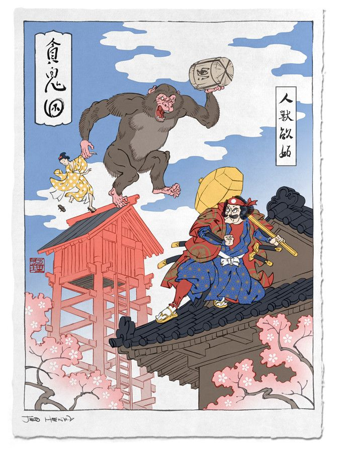 Artist turns game characters into traditional Japanese woodblock prints - Imgur