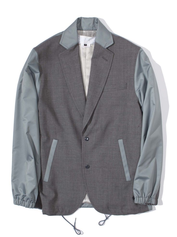 GANRYU Nylon Coaches Blazer Jacket