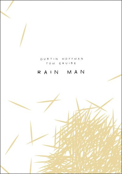 Rain Man. Minimalist Movie Poster