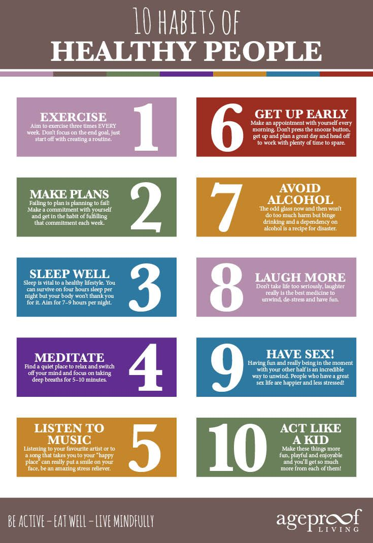 Top Ten Habits of Healthy People – Ageproof Living