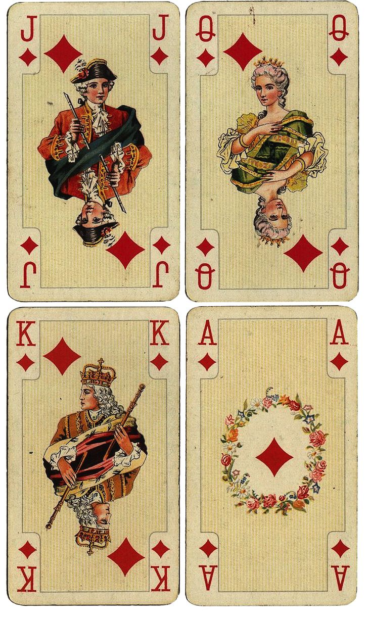 1000+ Ideas About Vintage Playing Cards On Pinterest