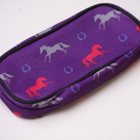 Pencil Case - Purple with Horse Print - Pony Express Girls Canada - 2