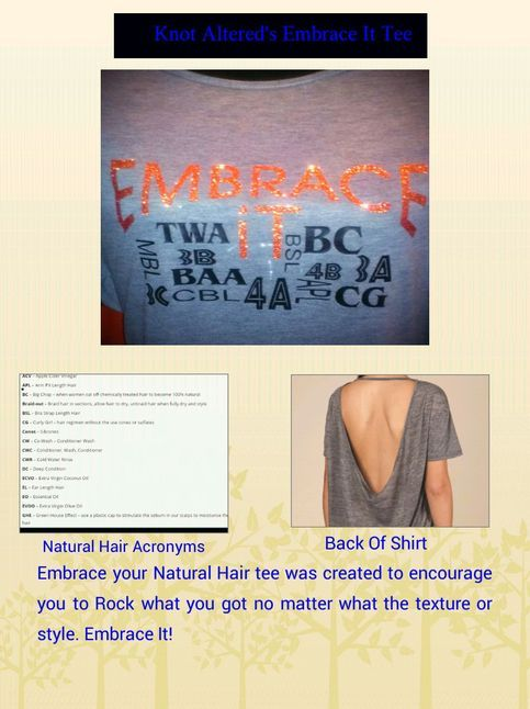 Embrace It Natural Hair Tee from Knot Altered on Storenvy