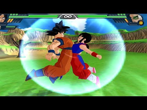 Goku and Chichi (Milk) Fusion   Kid Gohan vs Raditz DBZ Budokai Tenkaichi 3 (MOD) - YouTube