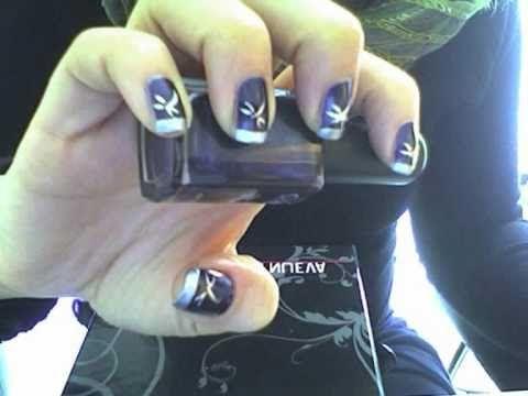 ☼ nail art viola e argento ☼