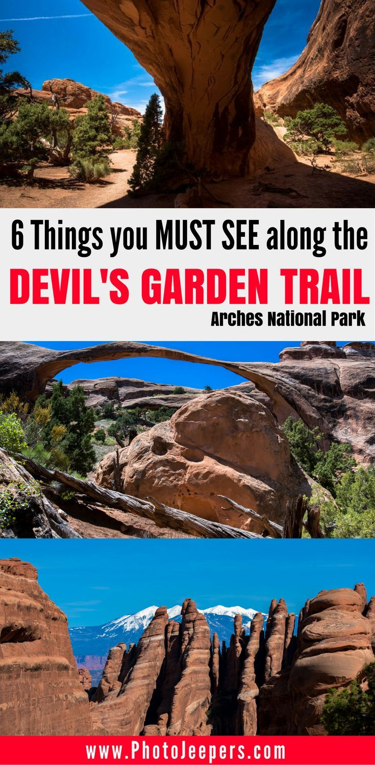 If you want to check out the Devil's Garden Trail at Arches National Park, read our guide first. It includes trail length, time estimates, the best things to see on Devil's Garden Trail, and our best photography tips for this trail. Don't forget to save this to your hiking or USA travel board.