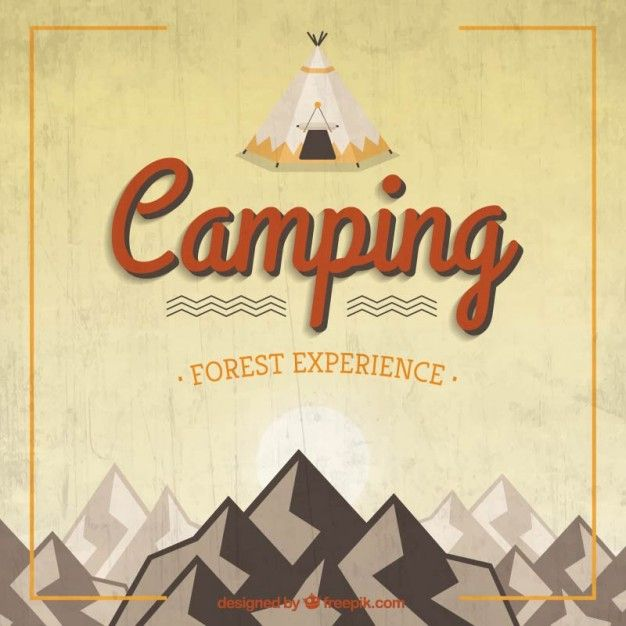 Free vector Retro camping background #15052