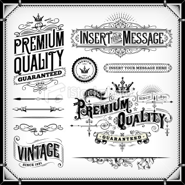 Ornate Frames and Banners Royalty Free Stock Vector Art Illustration