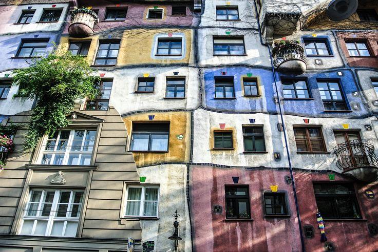 Hundertwasserhaus, Friedensreich Hundertwasser and Joseph Krawina