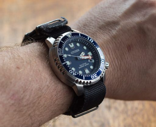 Citizen Promaster Diver Review – BN0151-09L wrist shot with