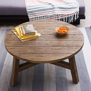 Driftwood Finish Coffee Table