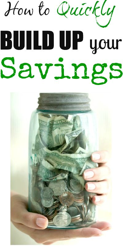how to quickly build up your savings to save money for your family