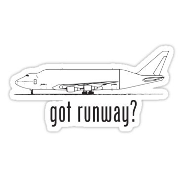 In commemoration of the November 2013 accidental landing of the Boeing 747 Dreamlifter LCF at Col. James Jabara Airport in Kansas. • Also buy this artwork on stickers, apparel, kids clothes, and more.