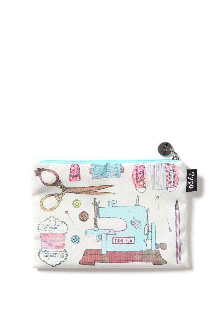 campus pencil case, VINTAGE SEWING
