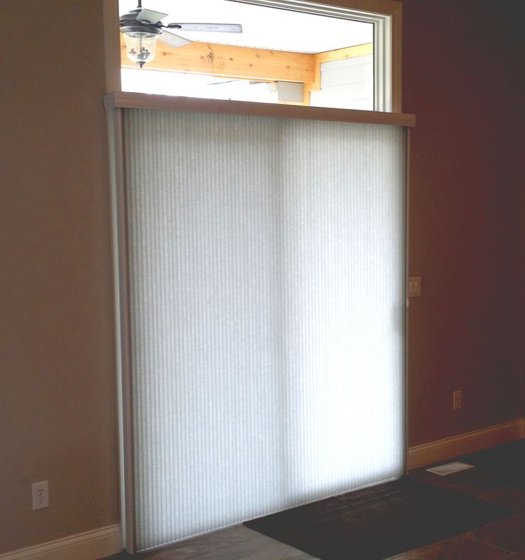 Sliding Glass Door Window Treatments Like This Vertical Cellular Shade Are  An Alternative To Vertical Blinds