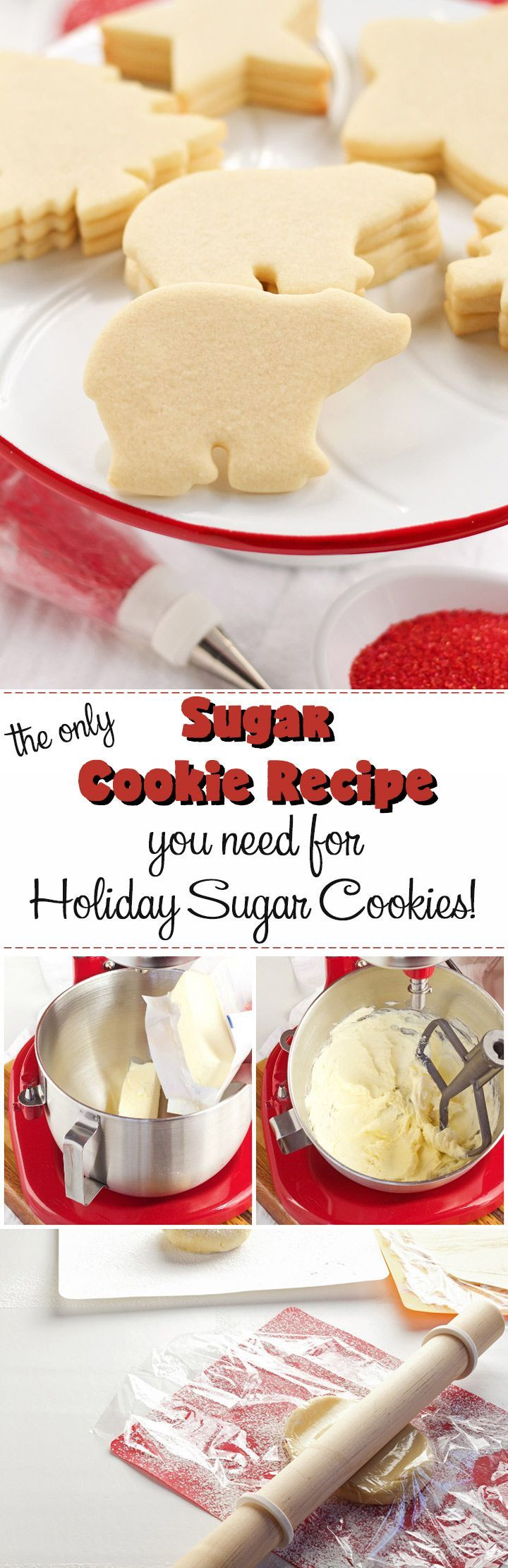 This is the ONLY Sugar Cookie Recipe You'll NEED for your Holiday Sugar Cookies | The Bearfoot Baker