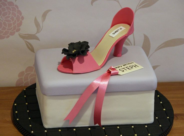 High Heel Shoe Box Cake