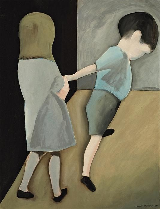 Children, 1954-1956, Charles Blackman. Australian, born in 1928.