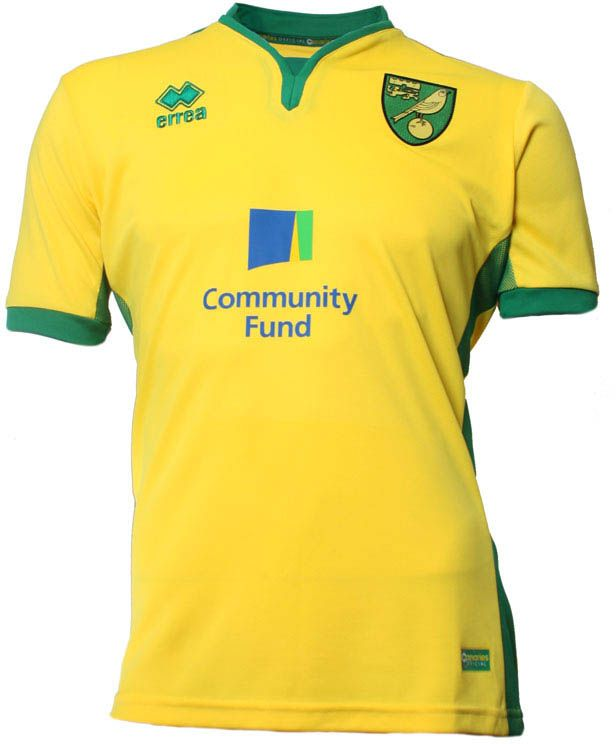 Norwich City FC (England) - 2016/2017 Erreà Home Shirt