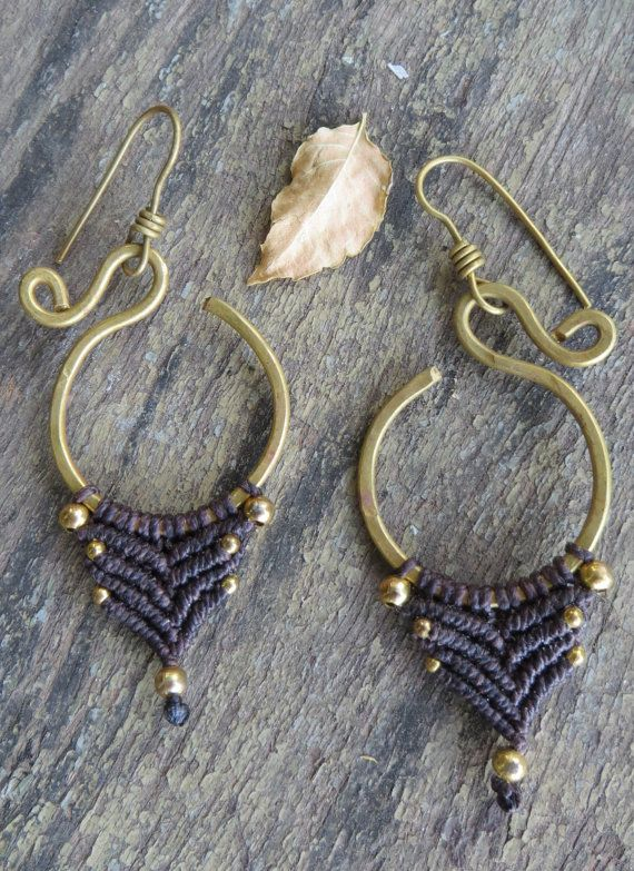Macrame Tribal Earrings by CuraWay on Etsy