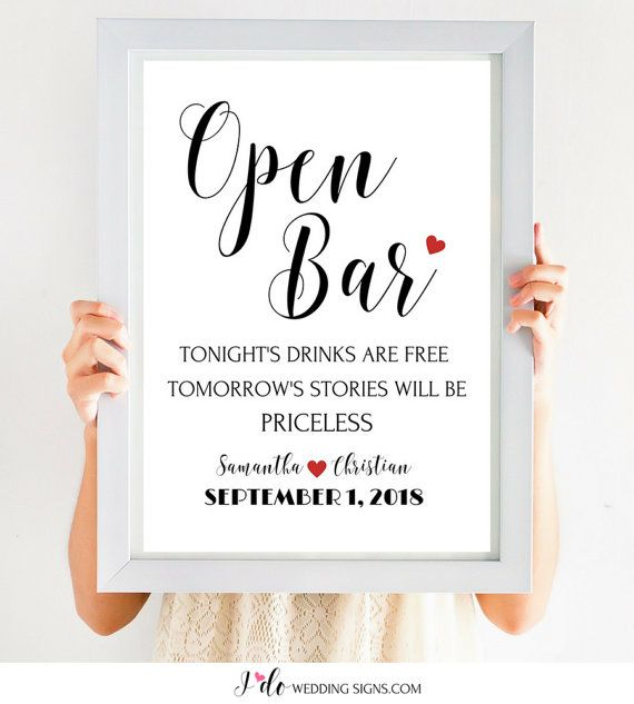 1000 Images About Funny Bar Signs For L5y On Pinterest: 1000+ Ideas About Open Bar Wedding On Pinterest