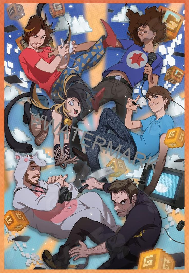 Game Grumps Group Poster from 1Shirt! 1 Shirt Posters