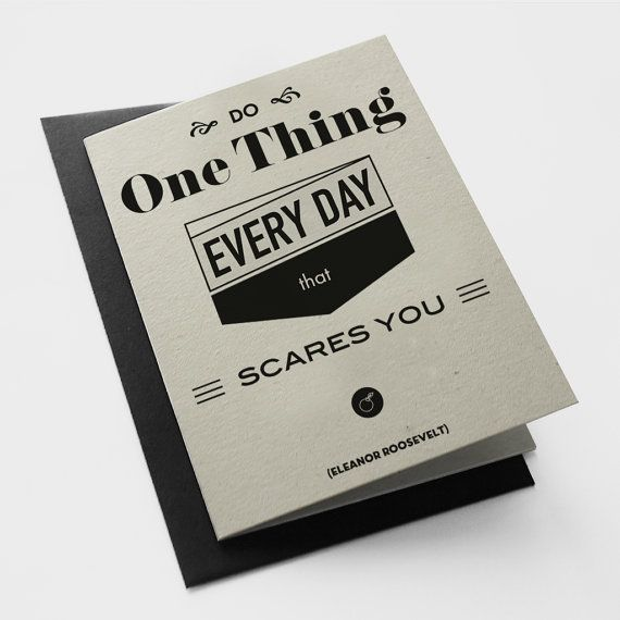 Roosevelt Blank Greeting Card Black Envelope by MessProject, €3.20  #Greetingcards #wish #cards #typography #quote #papergoods #roosevelt