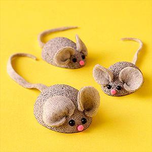 plastic foam Mouse Family