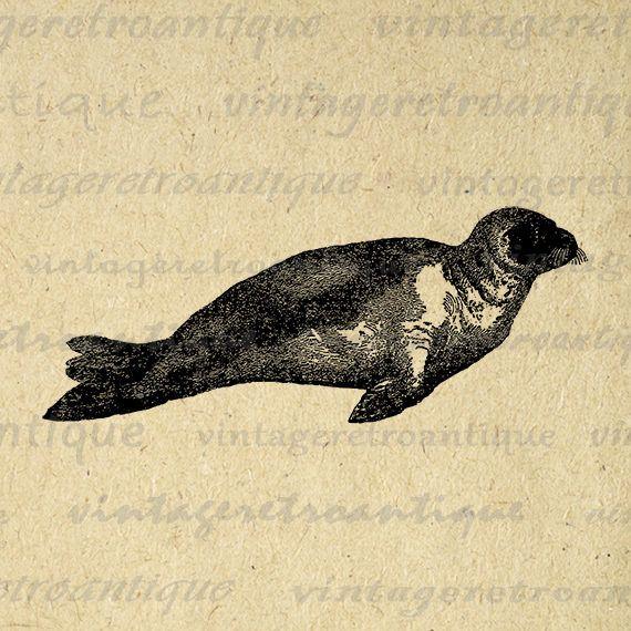 Printable Seal Image Download Digital Graphic Artwork Antique