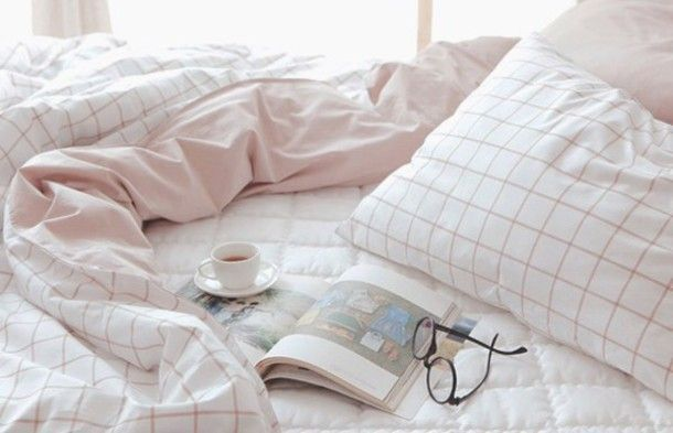 Home Accessory Pink Pale Aesthetic Tumblr Aesthetic Grid Checkered Bedding Tumblr Bedroom Bedsheets White H Pink And Grey Room Aesthetic Bedroom Pale Aesthetic